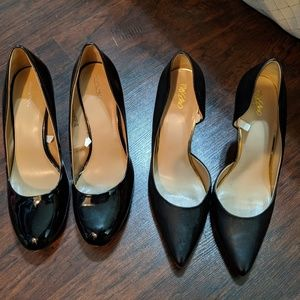 Black heels from Target- two pairs!